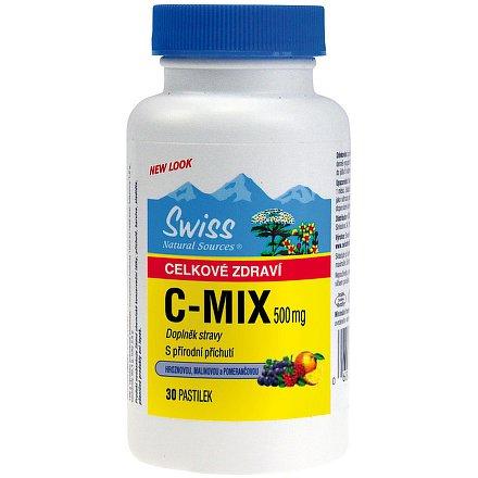 Swiss C-MIX přírodní 500 mg cucací tablety 30
