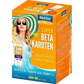 Revital Super beta-karoten 100+50 tbl. + opalovací mléko