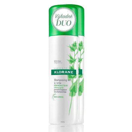KLORANE Ortie dry shamp 150ml DUO