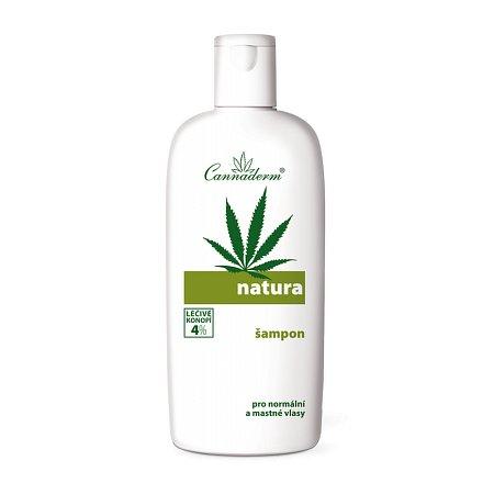Cannaderm Natura šampon na normální a mast.vlasy 200 ml