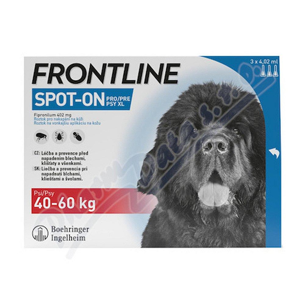 FRONTLINE SPOT ON pro psy XL (40-60kg) - 3x4,02ml
