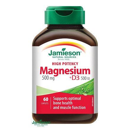 Hořčík 500 mg s vitamínem D3 500 IU 60 tbl.