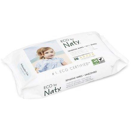 Vlhčené ubrousky Naty Nature Babycare bez vůně - pro citlivou pokožku (56 ks)
