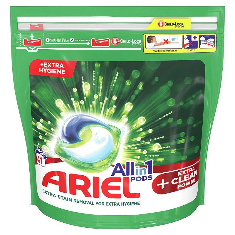 ARIEL All-In-1 PODs Kapsle na praní +Extra Clean Power, 41 praní