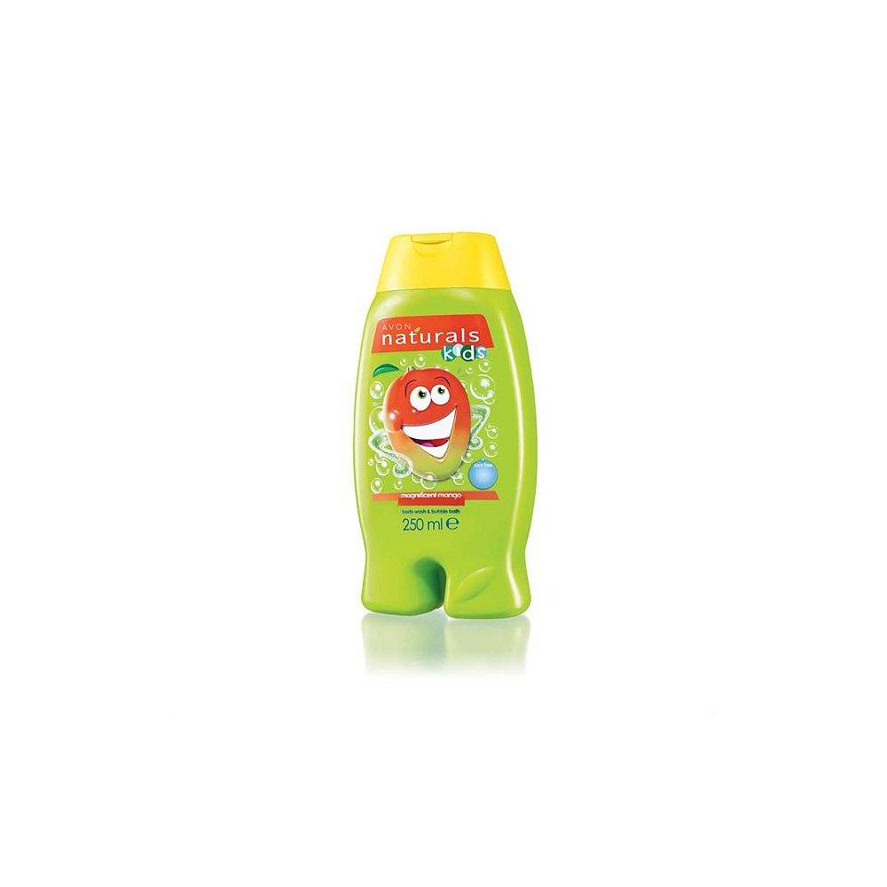 AVON Naturals kids Sprchový gel a pěna do koupele 2v1 S mangem  250 ml