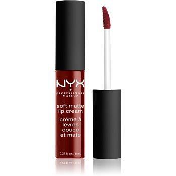 NYX Professional Makeup Soft Matte Lip Cream lehká tekutá matná rtěnka odstín 27 Madrid 8 ml