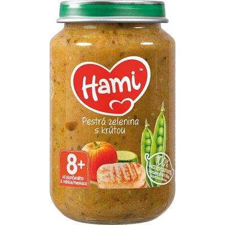 Hami příkrm Pestrá zelenina s krůtou 200 g, 8+
