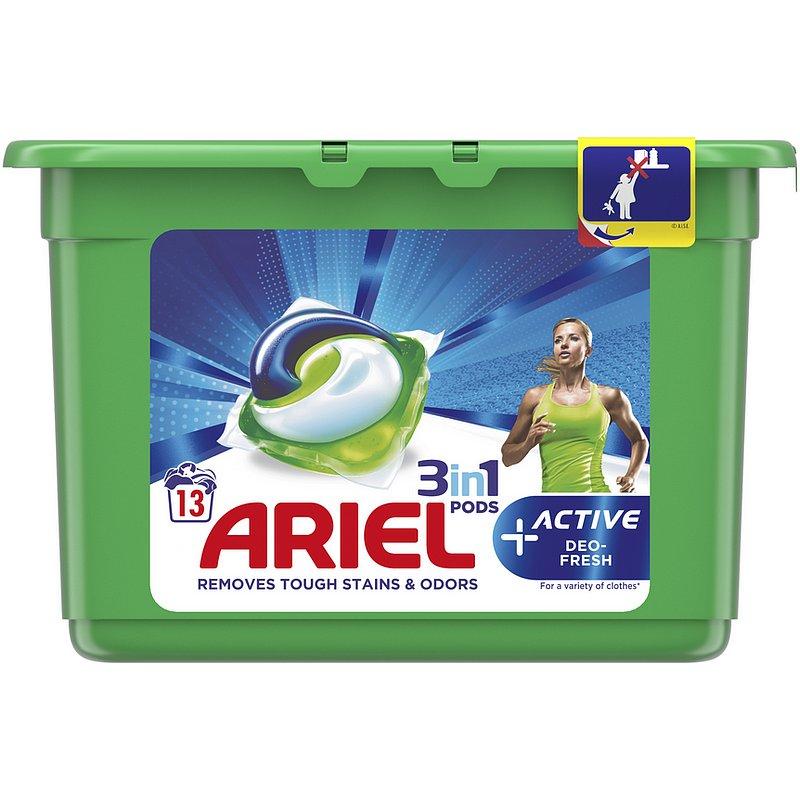 ARIEL Gelové kapsle Active Sport 3in1 13 ks