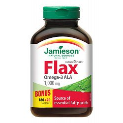 Jamieson Flax Omega-3 1000 mg lněný olej 200 kapslí