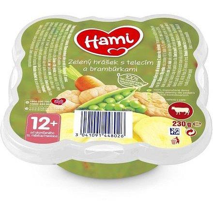 Hami talířek Zelený hrášek s telecím a brambůrkami 230g, 12+