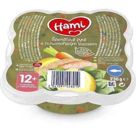Hami talířek Špenátové pyré s tichomořským lososem 230g, 12+