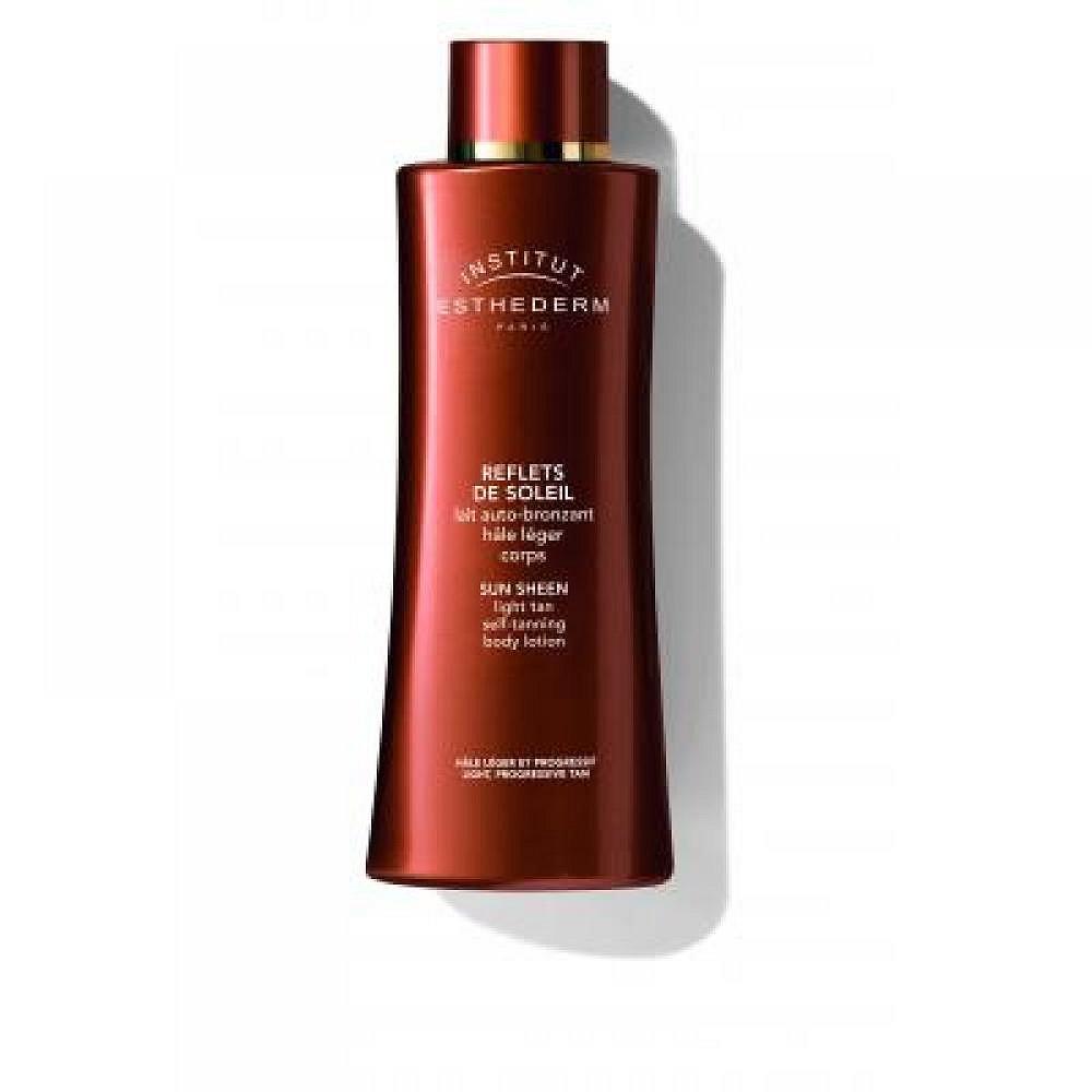 Esthederm Sun Sheen Light tan self-tanning body lotion - samoopalovací mléko na tělo lahvička s pumpičkou 150 ml