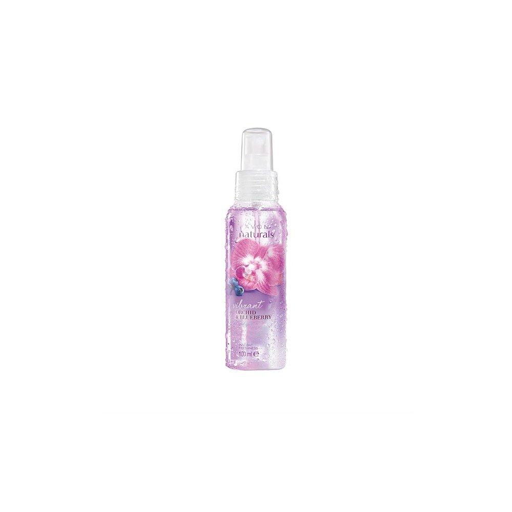 AVON Naturals Tělový sprej s orchidejí a borůvkou 100 ml