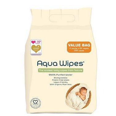 Aqua Wipes Eko dětské vlhčené ubrousky 4x64ks