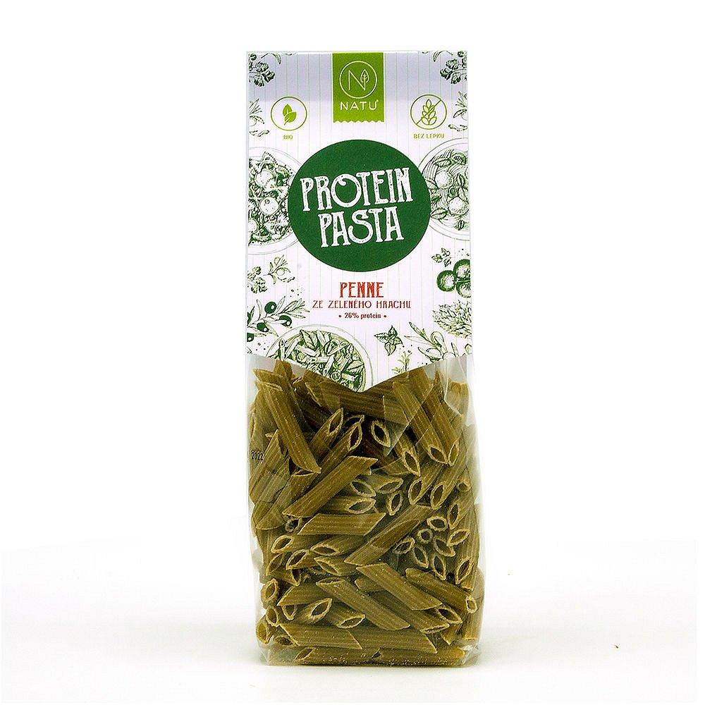 NATU Protein Pasta Penne ze zeleného hrachu BIO 250 g