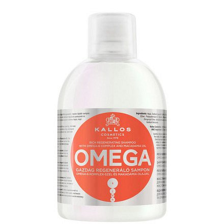 Regenerační šampon s omega-6 komplexem a makadamia olejem (Omega Hair Shampoo) 1000 ml