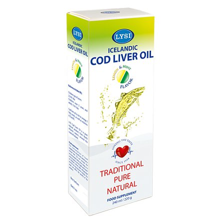 LYSI Cod live oil lemon/mint 240 ml
