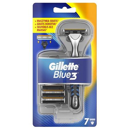 Gillette Blue3 strojek + 7 hlavic