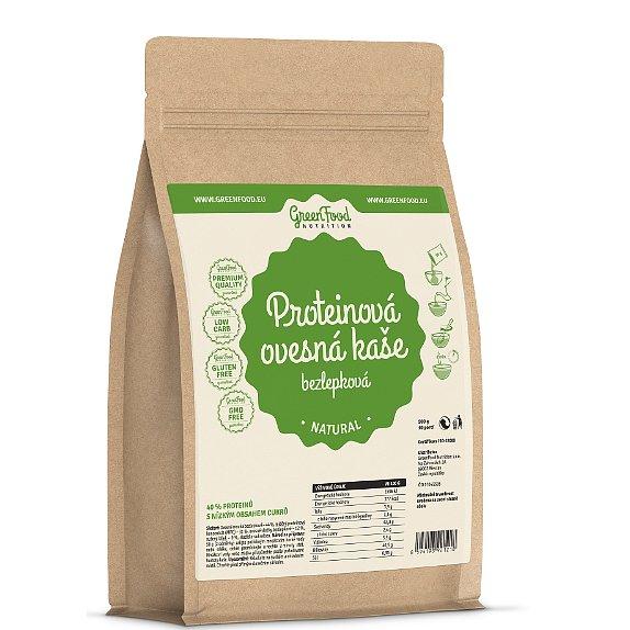 GreenFood Nutrition Proteinová ovesná kaše bezlepková natural 500g