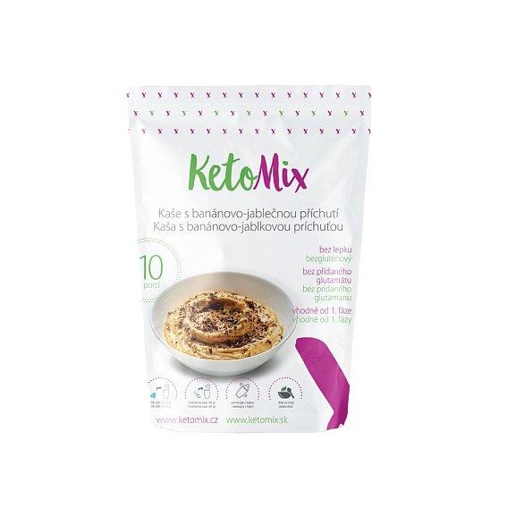KetoMix Proteinová kaše 280g (10 porcí) s banánovo-jablečnou příchutí
