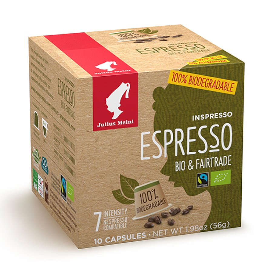 Kompostovatelné kapsle Inspresso Bio & Fairtrade