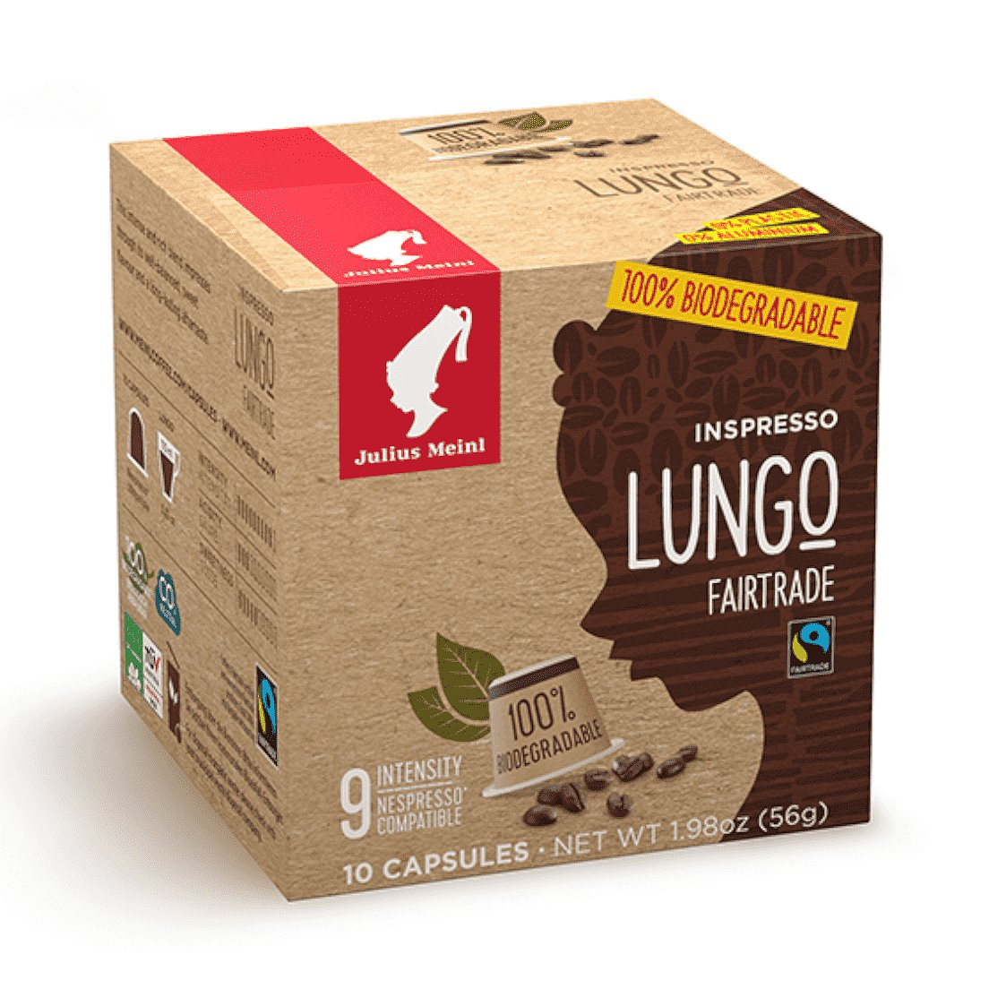 Kompostovatelné kapsle Inspresso Lungo Fairtrade