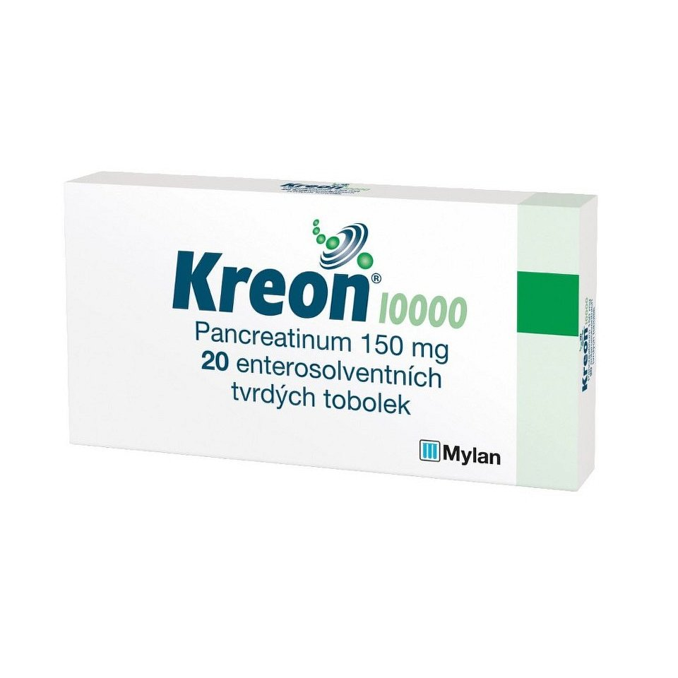 KREON 10 000 10000U enterosolventní tvrdé tobolky 20