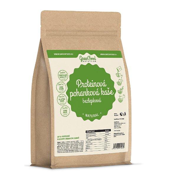 GreenFood Nutrition Proteinová pohanková kaše bezlepková natural 500g