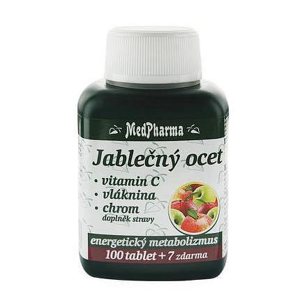 MedPharma Jablečný ocet+vlák.+vitamín C+chrom tablety 107