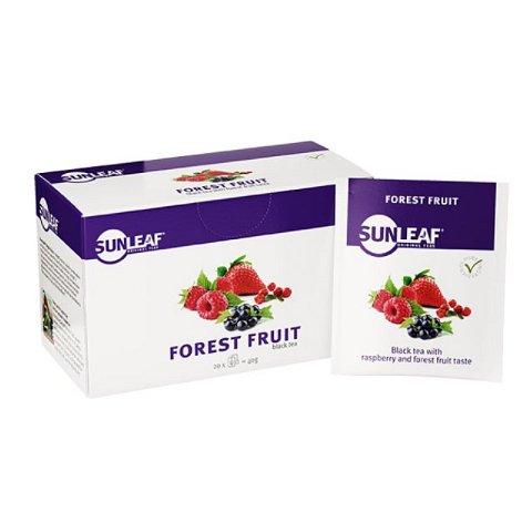 SUNLEAF Ochucený černý čaj Lesní plody 20 sáčků