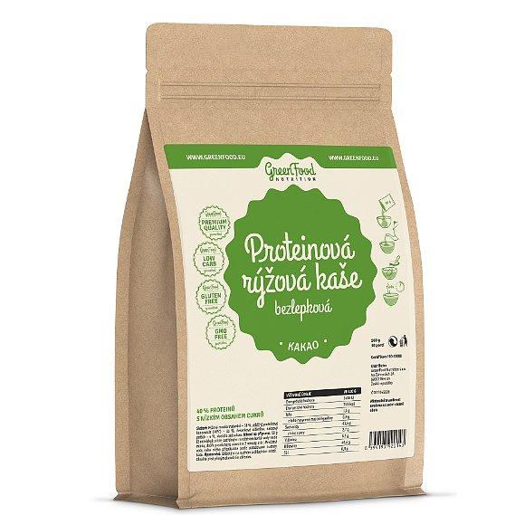 GreenFood Nutrition Proteinová rýžová kaše bezlepková kakaová 500g