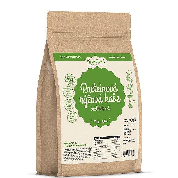 GreenFood Nutrition Proteinová rýžová kaše bezlepková natural 500g