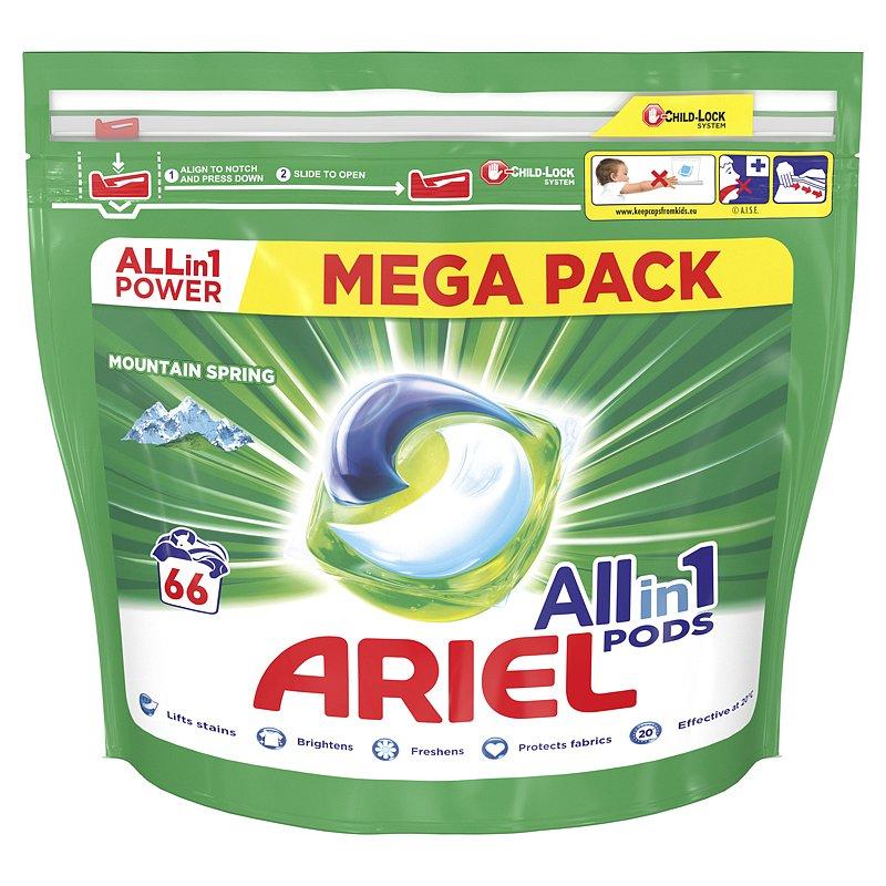ARIEL All-In-1 PODs Kapsle na praní Mountain Spring, 66 praní