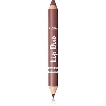 Alcina Lip Duo oboustranná tužka na rty odstín Berry Nude