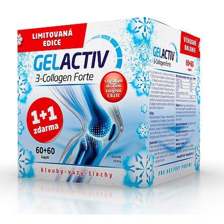 GelActiv 3-Collagen Forte cps. 60+60 Zdarma