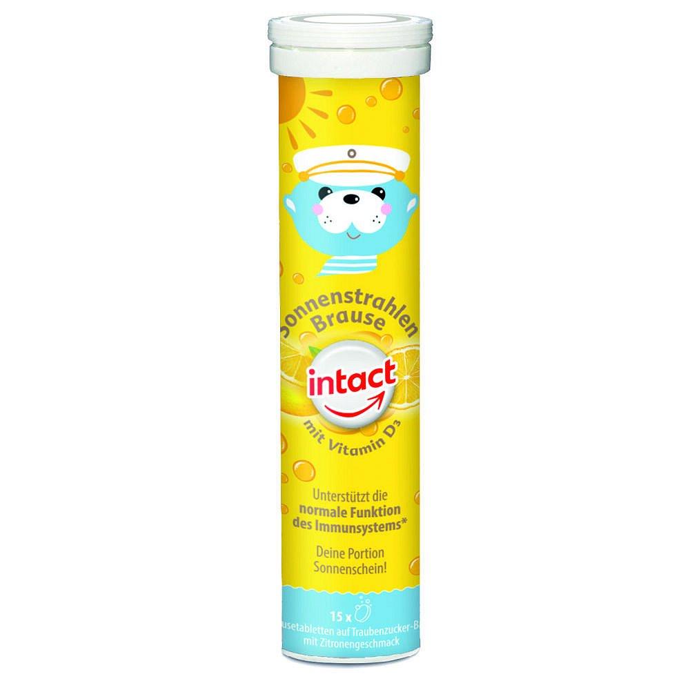 INTACT Sluneční svit vit. D3 15 šumivých tablet citron