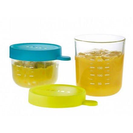 Kelímek na jídlo skleněný 2ks 150ml / 250ml