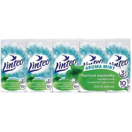 Papírové kapesníky LINTEO máta 10x10ks 3 vrstvé