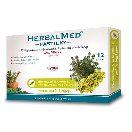 HerbalMed Dr.Weiss pastilky Isl.lišejník-tymián 12 ks