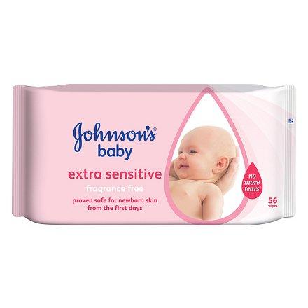 Johnson´s Baby wipes Extra Sensitive 56ks