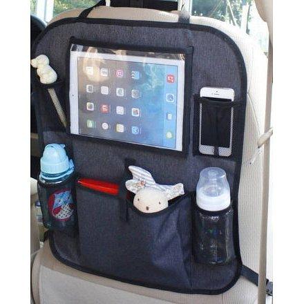 Kapsář do auta s kapsou na tablet, Luxury Grey