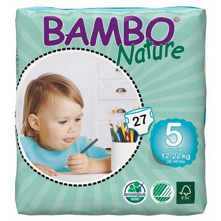 BAMBO Nature Junior plenkové kalhotky 12-22kg 27ks