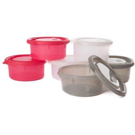 Bo Jungle misky s víčky Bowls Pink/White/Grey 300ml (6ks)