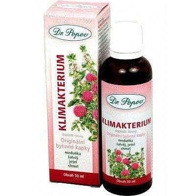 Klimakterium bylinné kapky Dr.Popov 50ml