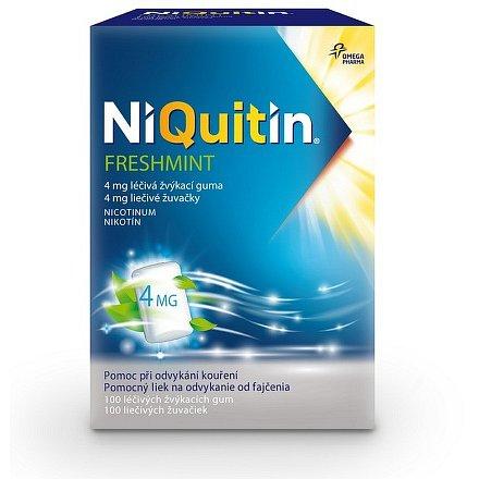 NiQuitin Freshmint 4 mg léčivá žvýkací guma 100 ks
