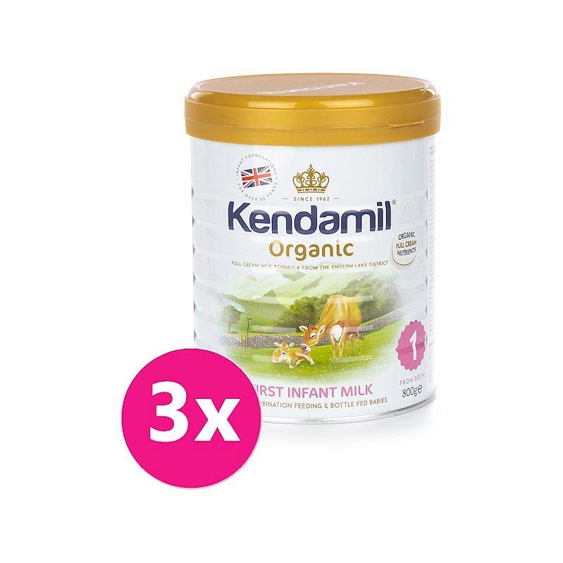3x KENDAMIL Kojenecké BIO mléko 1 (800 g) DHA+