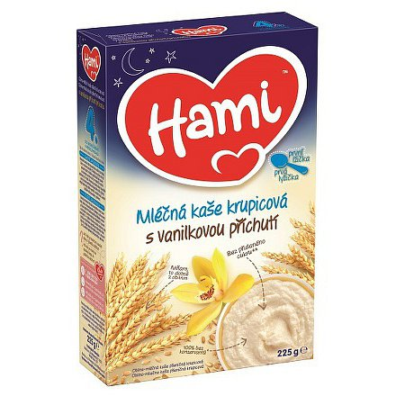 Hami kaše mléčná na dobrou noc krupicová s vanilkou 225g 4M