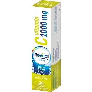 Revital C vitamin 1000mg limetka + grep 20 šumivých tablet