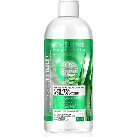 EVELINE Facemed micelární voda s Aloe vera 400ml