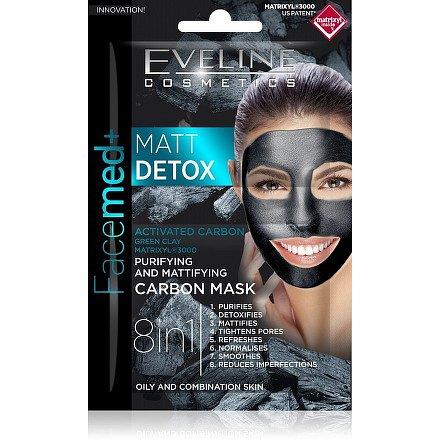 EVELINE Facemed Matt Detox pleťová maska 8v1 2x5ml